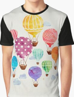 Hot Air Balloon Graphic T-Shirt