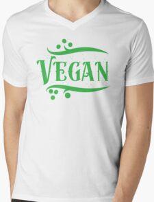 VEGAN (word) Mens V-Neck T-Shirt