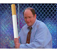 George Costanza cigarette bat vaporwave 420 Photographic Print