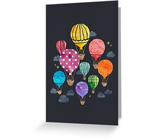 Hot Air Balloon Night Greeting Card