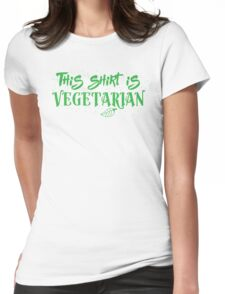 This shirt is Vegetarian Womens Fitted T-Shirt
