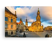 Old city of Dresden Canvas Print