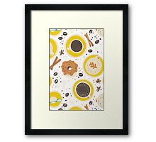 Coffee upper view seamless Framed Print