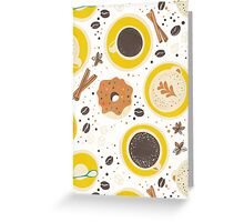Coffee upper view seamless Greeting Card