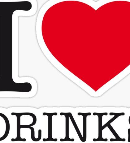 I ♥ DRINKS Sticker