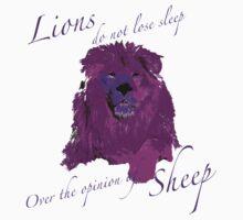 Lions Do Not Lose Sleep Kids Tee
