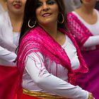 Dancer In The Pase Del Nino Parade II by Al Bourassa