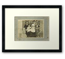 """Family Retro""... prints and products Framed Print"