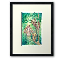 forest spirits Framed Print