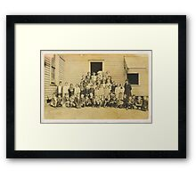 """THROWBACK: A 1917 One Room Schoolhouse""... prints and products Framed Print"