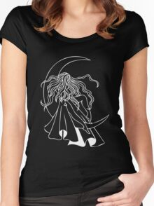 Moon Goddess luna Women's Fitted Scoop T-Shirt