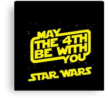 Star Wars May the 4th be with you Canvas Print