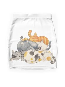 Cat Nap (Siesta Time) Mini Skirt