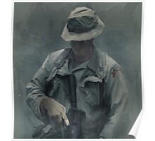 F Co.  51st INF LRPs in Vietnam Poster