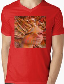 Crystal Eyes Mens V-Neck T-Shirt