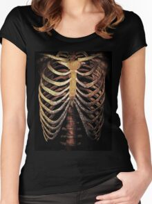 RIB CAGE TEE Women's Fitted Scoop T-Shirt