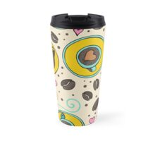 Coffee been seamless white watercolor Travel Mug