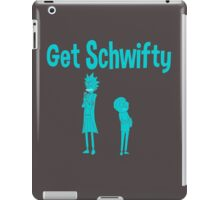 rick and morty blue iPad Case/Skin
