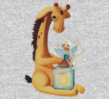 Fairy and Giraffe  One Piece - Long Sleeve