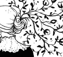 Cotton Hairdress - ink painting Sticker