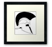 Greek helmet Framed Print