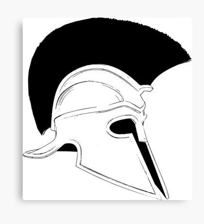 Greek helmet Canvas Print