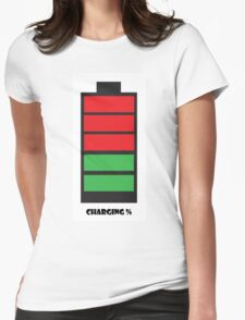 Charging % Womens Fitted T-Shirt