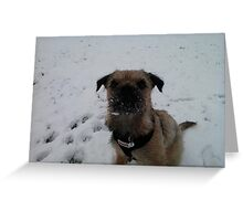 Snowy Beard Heidi Greeting Card