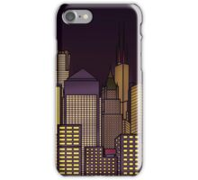 ABSTRACT CITYSCAPE: CHOCOLATE HAZE iPhone Case/Skin