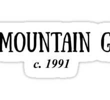 the mountain goats c. 1991 Sticker