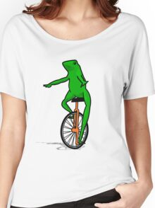 Dat Boi Unicycle Frog T-Shirt Women's Relaxed Fit T-Shirt