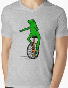 Dat Boi Unicycle Frog T-Shirt Mens V-Neck T-Shirt
