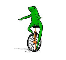 Dat Boi Unicycle Frog T-Shirt Photographic Print