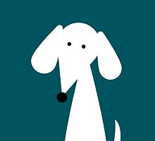 White Dachshund - Turquoise   by TheyComeAlong