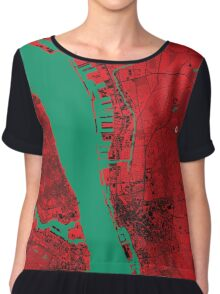 Liverpool Map Chiffon Top