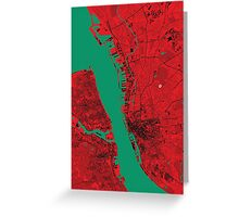 Liverpool Map Greeting Card