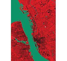 Liverpool Map Photographic Print