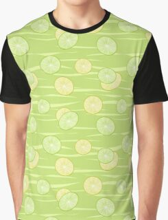 Colorful illustration . The Lemon & Lime.  Graphic T-Shirt