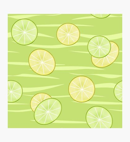 Colorful illustration . The Lemon & Lime.  Photographic Print
