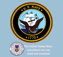 The Navy Remembers Its War Dead for Dark Colors Unisex T-Shirt