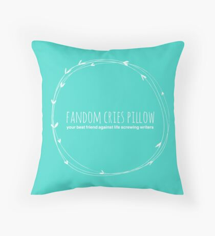 Fandom Cries Pillow Throw Pillow