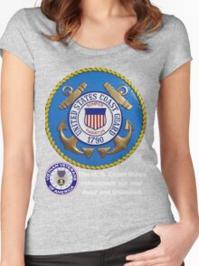 US Coast  Guard Rembers Women's Fitted Scoop T-Shirt