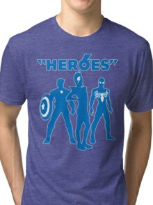 heroes: bowie and his super friends Tri-blend T-Shirt