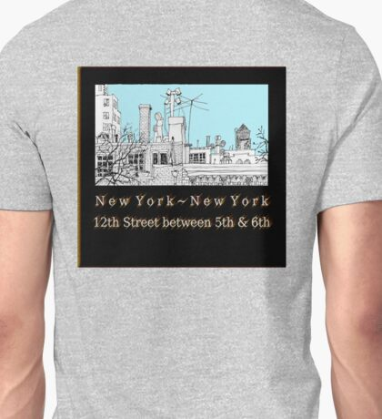 Greenwich Village Roofscape Unisex T-Shirt