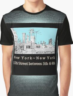 Greenwich Village Roofscape Graphic T-Shirt