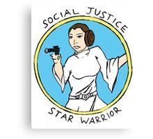 Social Justice Star Warrior - Leia Canvas Print