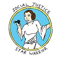 Social Justice Star Warrior - Leia Photographic Print