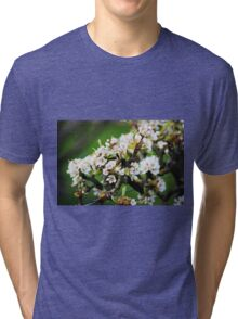 White Apple blossom Tri-blend T-Shirt