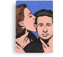 Mulder and Scully X Files Canvas Print
