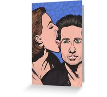 Mulder and Scully X Files Greeting Card
